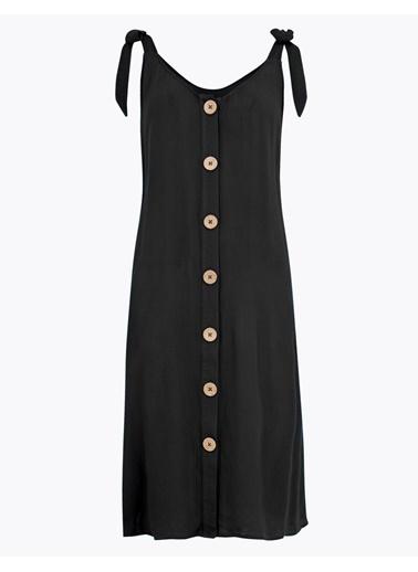 Marks & Spencer Düğme Detaylı Plaj Elbisesi Siyah